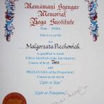 Dyplomowana nauczycielka Jogi metody B.K.S. Iyengara